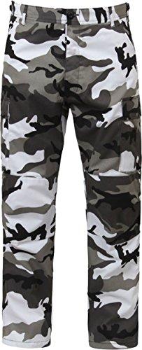 City Camo Cargo Army Fatigues Military BDU Pants Urban Metro Gray Camouflage