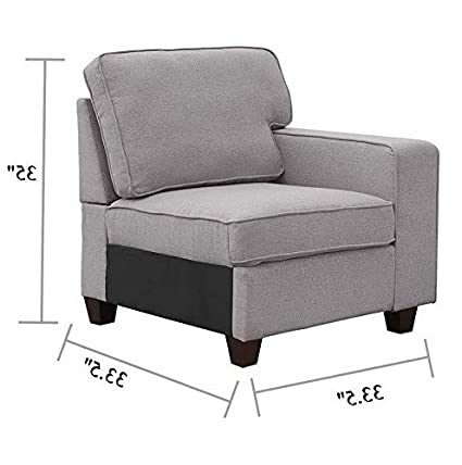 Amazon.com: Hebel 2019 Contemporary Sectional Sofa Set Couch ...