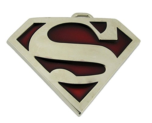 Superman Logo Kids Youth Boys and Girls Belt Buckle. (Red) [Office Product]