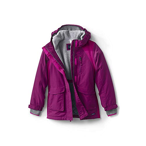 (Lands' End Girls Squall Waterproof Winter Parka, M, Rubellite)