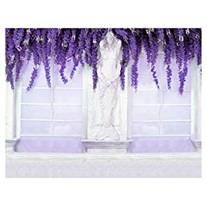 Full Blooming Purple Wisteria Backdrop 7x5FT Flowers Wedding Decoration Wedding Ceremony Shoot Background Spring Scenic Studio Props SSA016