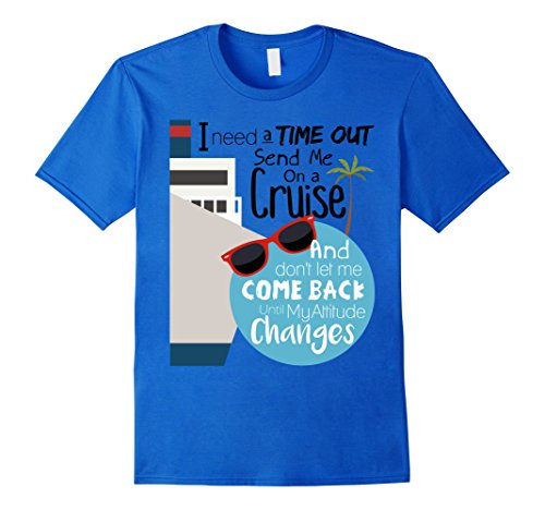 mens-debran-shirts-send-me-on-a-cruise-time-out-t-shirt-xl-royal-blue
