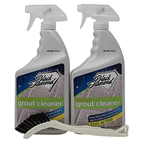 Black Diamond Stoneworks ULTIMATE GROUT CLEANER: Best, Acid-Free Safe Deep Cleaner, Stain Remover for Even the Dirtiest Grout in Tile, Ceramic, Porcelain, Marble and Stone.