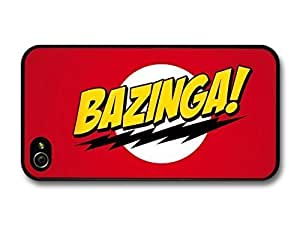 AMAF ? Accessories Big Bang Theory Bazinga! Illustration Red Background case for iPhone 4 4S