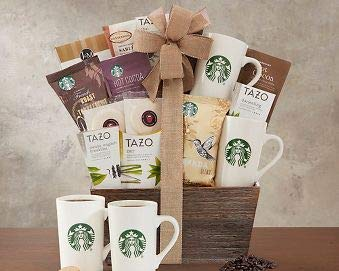 Gourmet Foods Gift Baskets, Starbucks Coffee and Tazo Tea Collection