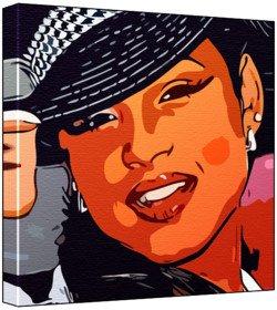 Christina Milian - Pop Art Print (Comic Effect) 30 x 30 x 2 cm Medium Square Deep Box Canvas (Christina Milian Best Of)