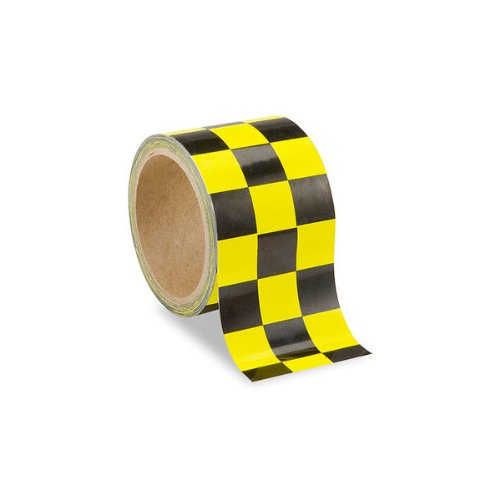 Low Vision Checkerboard Tape- Yellow and Black - 3-Inch Wide (Checkerboard Yellow)