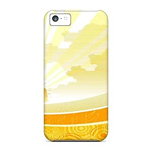 Snap-on Sunshine Widescreen Vector Case Cover Skin Compatible With Iphone 5c