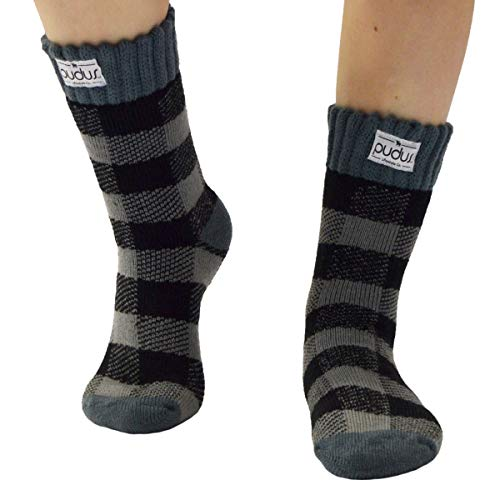 Pudus lumberjack grey adult W6-10 tall short winter boot Socks