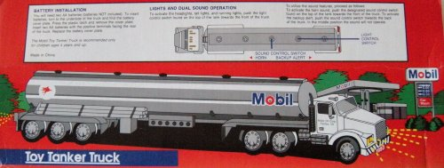 1993 Mobil Toy Tanker Truck; Limited Edition; Collectors (Tanker Heads)