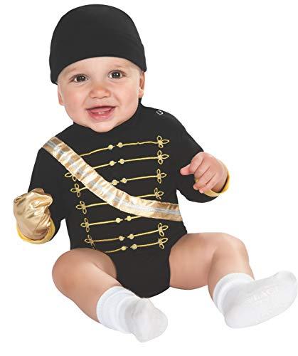 Rubie's Costume Co. Michael Jackson Military Jacket Onesie Costume, Multicolor, 6-12 Months