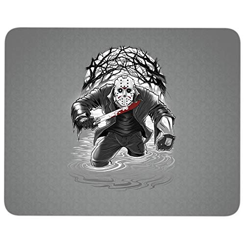 Killer Clown: The John Wayne Gacy Murders Premium-Textured Mouse pad, Jason Voorhees Friday The 13th Halloween Mouse Pad for Home, Office, Game, Computer, Laptop (Mouse Pad - Dark Gray) -