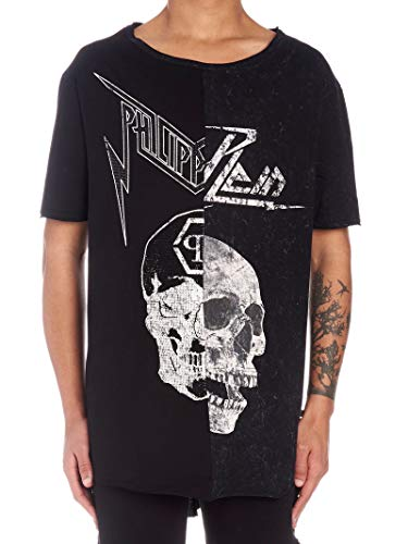 Philipp Plein Luxury Fashion Mens T-Shirt Summer Black
