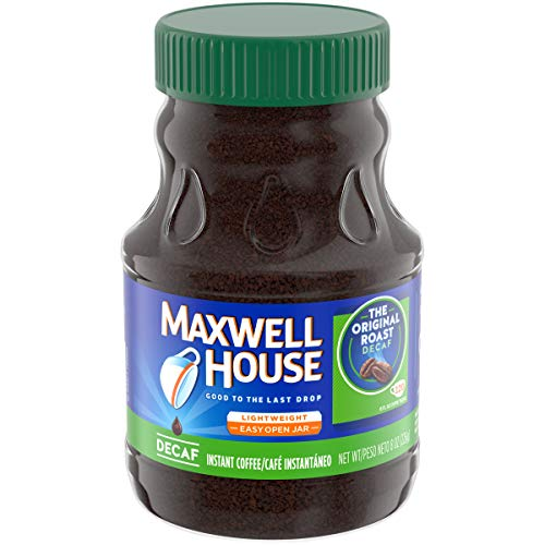Maxwell House Instant Decaffeinated Coffee, 8 oz Jar