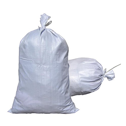 MTB Sand Bags 18''x30'', Empty White Woven Polypropylene w/Ties, UV Protection, 50Pack (Also Sold In 10Pack / 100Pack. 14''x26'' / 17''x27'' Available) by MTB Supply