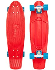 Penny 27 inch Nickel Complete Skateboard, Red/Blue