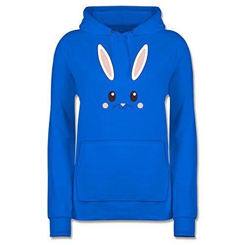 Shirtracer Ostern - Süßes Hasen-Gesicht - Damen Hoodie Himmelblau BgqMNz