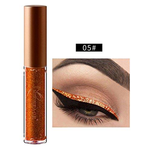 Kanzd Beauty Metallic Shiny Smoky Eyes Eyeshadow Glitter Shimmering Eye Shadow Long Lasting Waterproof Glitter Liquid Eyeliner (E) - Chrome Metallic Chair