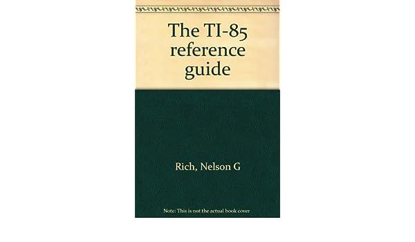 Ti 85 user guide.