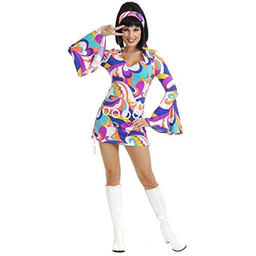 Disco Hottie Women's Sexy Go Go Girl Mod Dancer 60's 70's Dress Costume (XL)