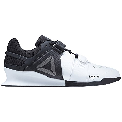Reebok Men's Legacylifter Cross Trainer, White/Black/Pewter, 10 M US