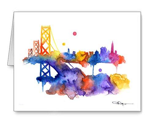 San Francisco Skyline Set of 10 Note Cards With Envelopes ()