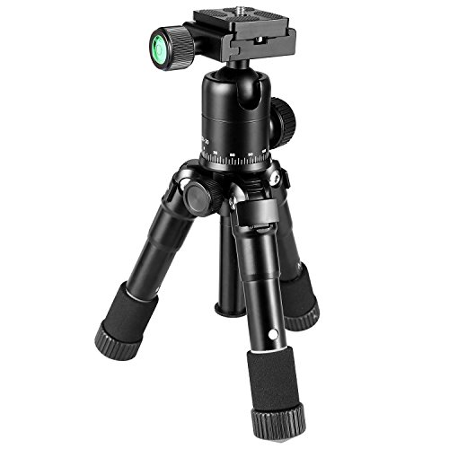 Crazefoto 20 inches Lightweight Compact Aluminum Alloy Mini Desktop Tabletop Tripod with 360 Degree Ball Head,1/4 inches Quick Release Plate, Bag Compatible with DSLR Camera, Video Camcorder by Crazefoto