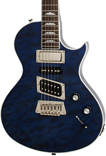 Quilt Top Electric Guitar (Epiphone Limited Edition Nighthawk Custom Quilt Electric Guitar Transparent Blue)