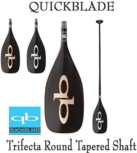 クイックブレード カーボンパドル QuickBlade TRIFECTA ROUND TAPE赤 トライフェクタ パドルボード SUP サップ 営業所止め 白い