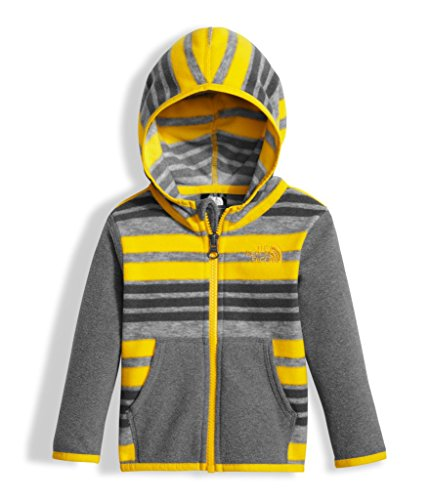 Full Zip 3 Stripes (The North Face Infant Glacier Full Zip Hoodie - Canary Yellow Varigated Stripe Print - 3M)