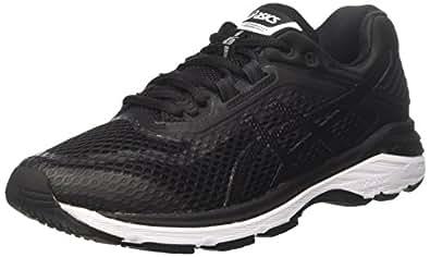 Asics Men's GT-2000 6 Road Running Shoes, Black (Black/White/Carbon),7.5 US,40 1/2 EU