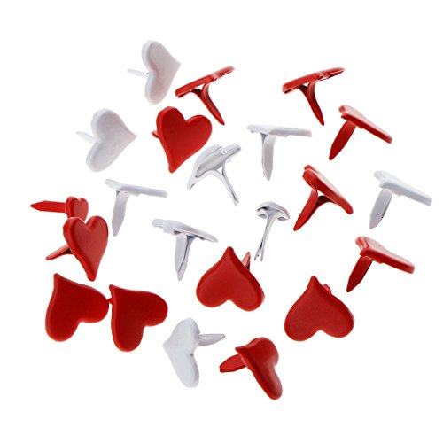 - MonkeyJack 100 Pieces 11mm Heart Shape Brads Fastener Scrapbook Brads Embellishments Craft