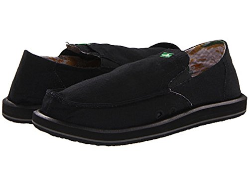 Sanuk Mens Pick Ficka Loafer (svart / Svart)