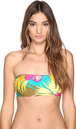 Sweetheart Bandeau Top (Volcom Women's Hot Tropic Sweetheart Bandeau Bikini Top, Teal, XL)