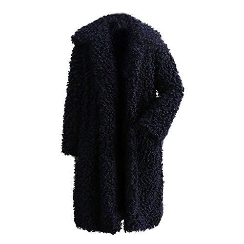 Zhrui Tamaño Marine1 Moda Cálido Outwear M Abrigo Grueso Mujer Chaqueta Las Invierno Sólida color Señoras Escudo Prendas Casual De Parka Cardigan 1rRqHU1xwP
