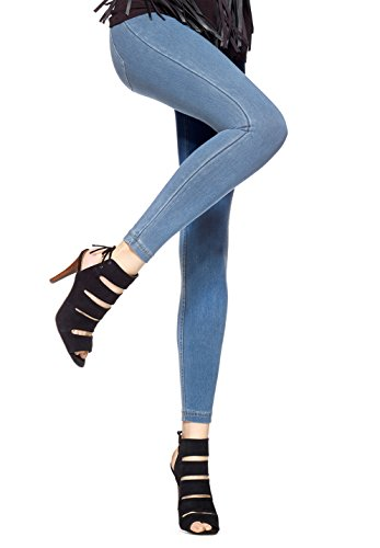 Denim Vintage Leggings (Hue Super Smooth Denim Leggings (Medium, Vintage Wash))