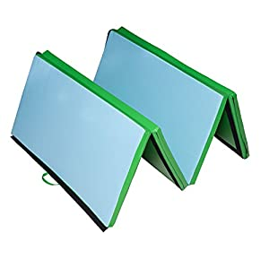 "New MTN G 4' x 8' x 2"" PU Leather Gymnastics Tumbling / Martial Arts Folding Mat"
