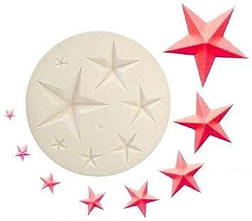 Inception Pro Infinite Molde de Silicona para Uso Artesanal de 8 Estrellas con 5 Puntas de Diferentes tamaños: Amazon.es: Hogar