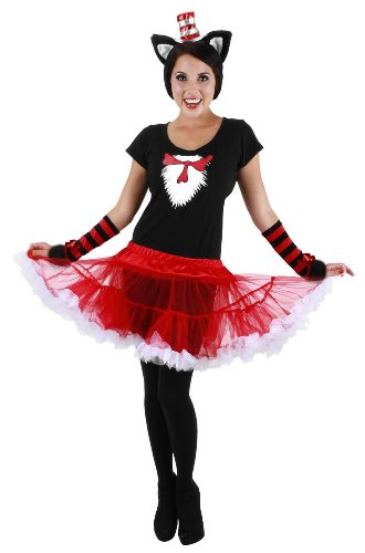 The Cat In The Hat Costume For Women (elope Cat In The Hat Adult Tutu Costume, Red, Small/Medium)