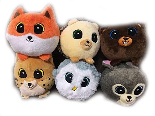 plush bear 20cm Funny Sweetie Forest Animal Plush Toy Rabbit Owl Fox Beaver Hedgehog Lynx Bear Stuffed Dolls -