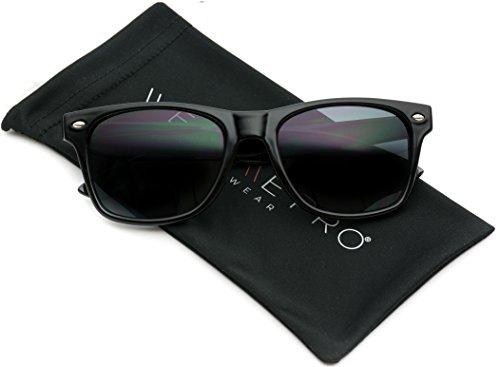 Black Classic Rimmed Retro Sunglasses