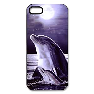 diy zheng Ipod Touch 5 5th / Ipod Touch 5 5th Covers Hard Back Protective-Unique Design Cute Dolphin Patterned Sunset Ocean Sea Case Perfect as Christmas gift(1)
