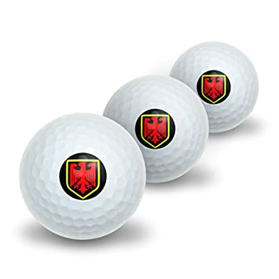 Graphics and More German Crest - Germany Novelty Golf Balls 3 Pack