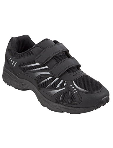 Mens Touch & Close Leisure Trainer Black