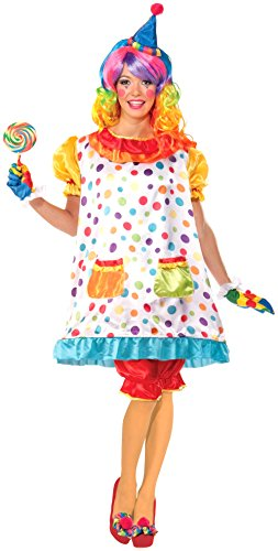 Clown Costumes - Forum Novelties Women's Wiggles The Clown Costume, Multi, Standard