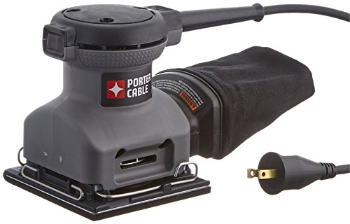PORTER-CABLE 380 1/4 Sheet Orbital Finish Palm Sander (Sander Cable Porter Wood)