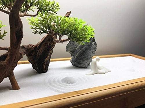 Laogg Jardin Zen Arenero De Paisaje Seco Mesa De Arena De Madera Maciza Meditación De Paisaje Micro Relajarse Decoración: Amazon.es: Hogar