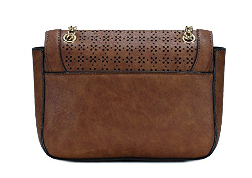 H1961 Crossbody Bag Pattern Cut Flap Laser Brown Scarleton Iz8xqfY4wn