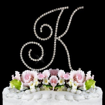 RENAISSANCE MONOGRAM WEDDING CAKE TOPPER LARGE LETTER K by Other