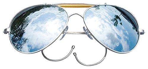 d'aviateur miroir soleil verre de militaires Lunettes qBS0W